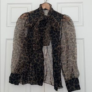 ZARA ORGANZA LONG SLEEVE BLOUSE BNWT